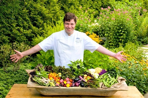 Old Edwards Inn Chef and Vegetables
