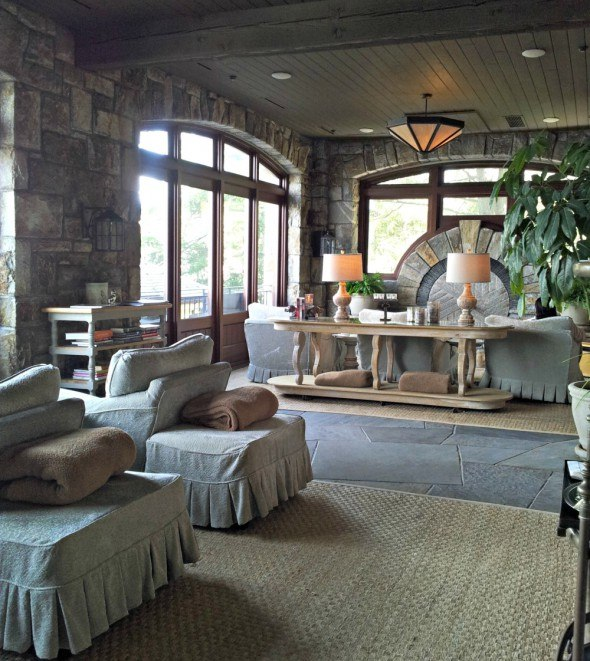 Old Edwards Spa lounge in Highlands, N.C. has the Sweet Metamorphosis using herbs from the garden