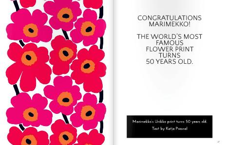 Marimekko Unikko 50 years old