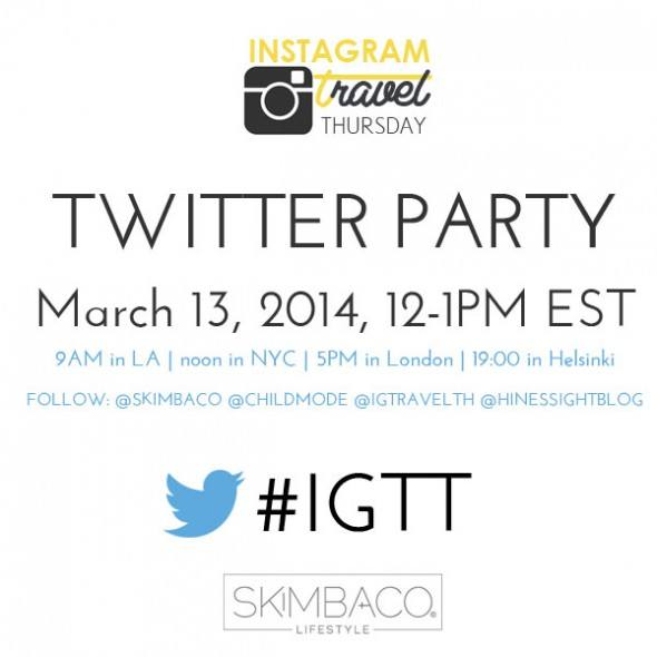 Twitter Party with Instagram Travel Thursday community about travel photography on Instagram