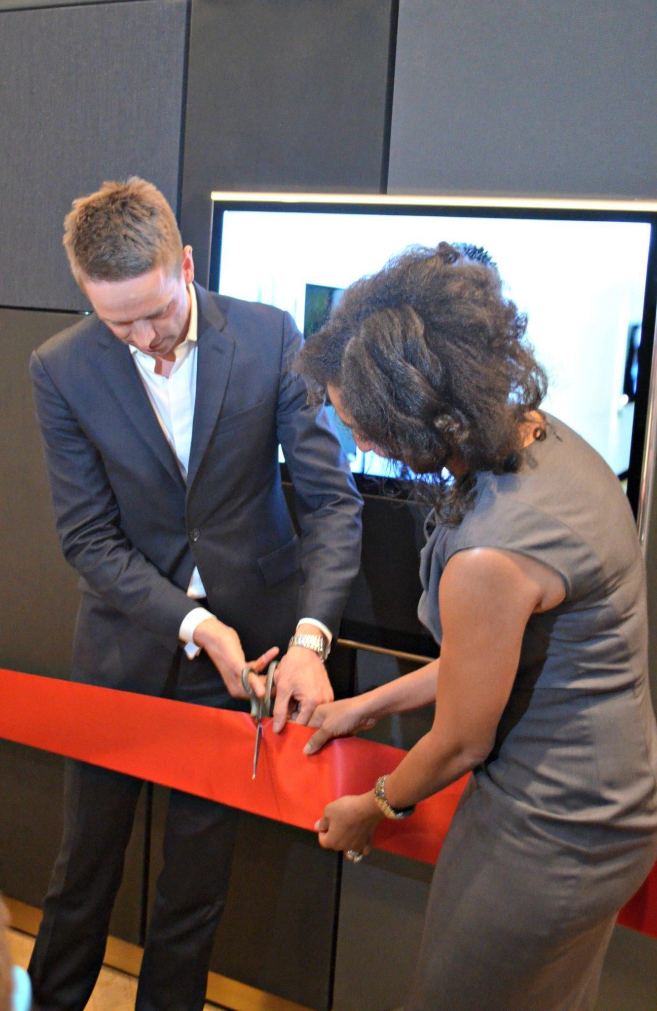 bang olufsen ribbon cutting