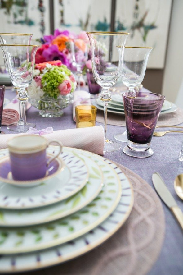 elegant spring tablescape French elegance