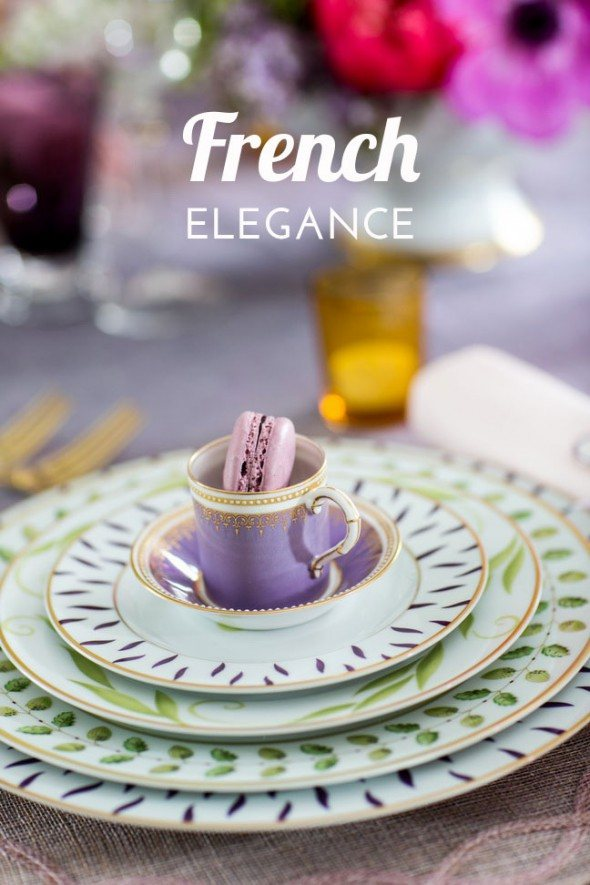 European elegance for spring tablescapes: French elegance Mother's Day tablescape by Svitlana Flom of Art de Fête