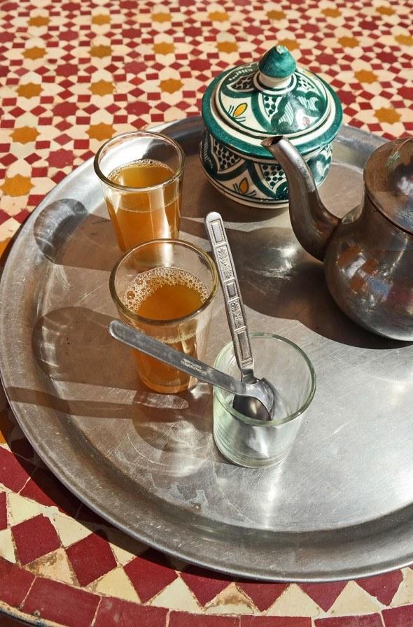 Tea moment in Morocco. Travel photo by Katja Presnal @skimbaco