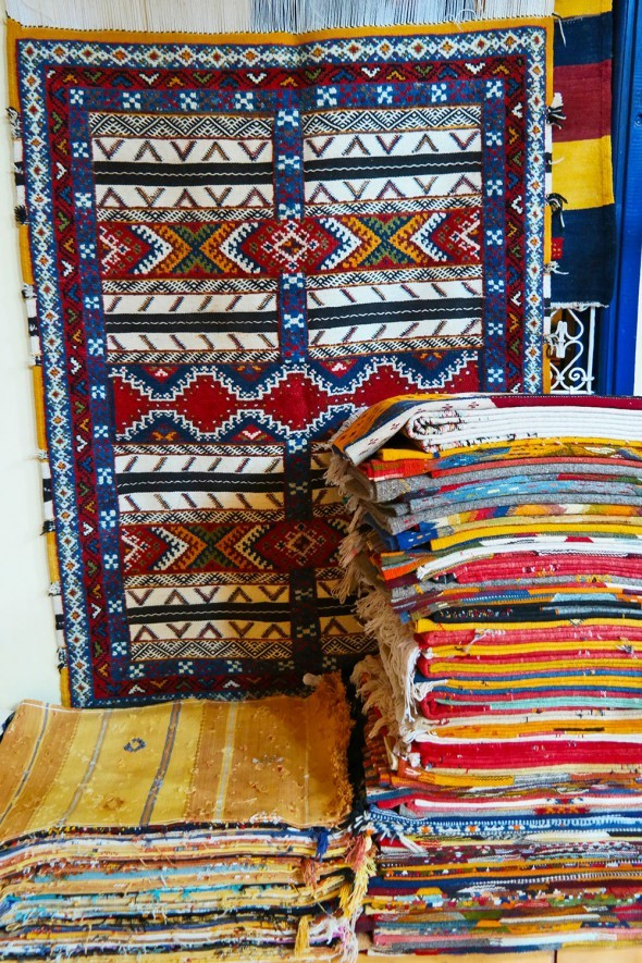 Moroccan rugs. Travel photo by Katja Presnal @skimbaco
