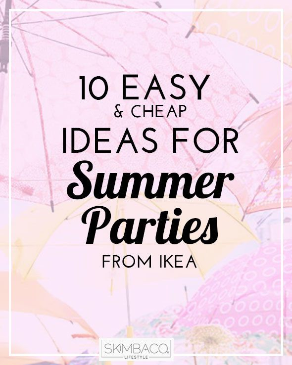 10 easy and cheap ideas for summer outdoor parties | via @skimbaco