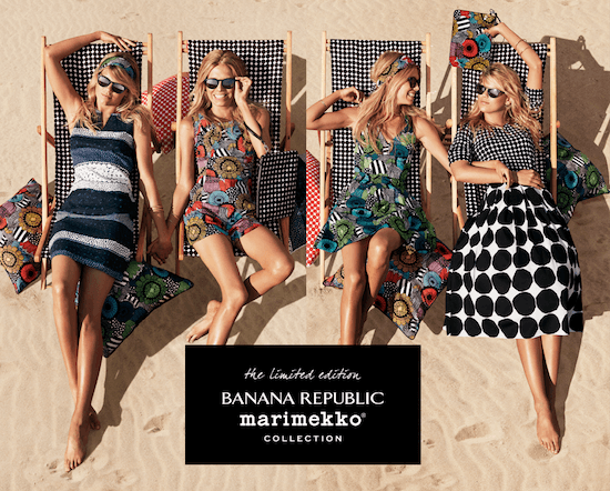 marimekko banana republic collection 2014