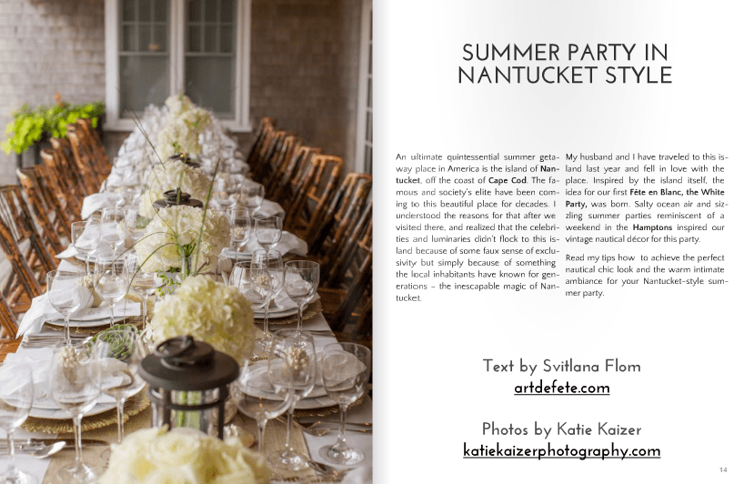 Nantucket party ideas from Art De Fete