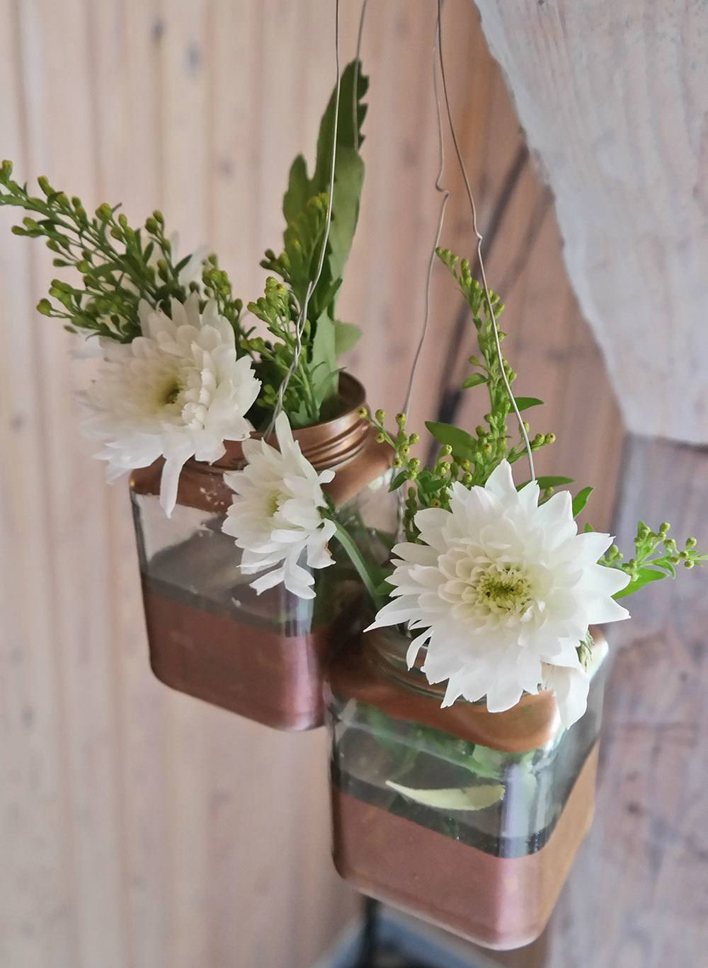 DIY flower vases out of jelly jars | @skimbaco