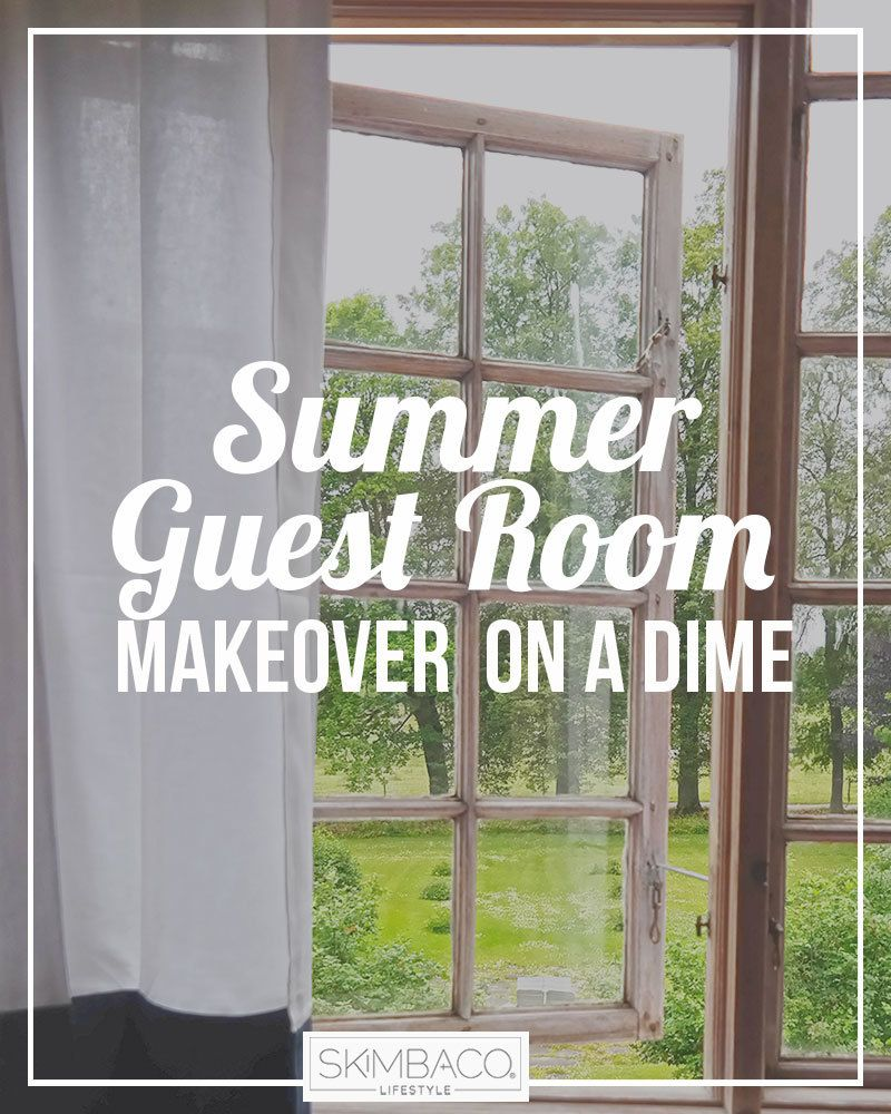 guest bedroom makeover on a dime at skimbacolifestyle.com