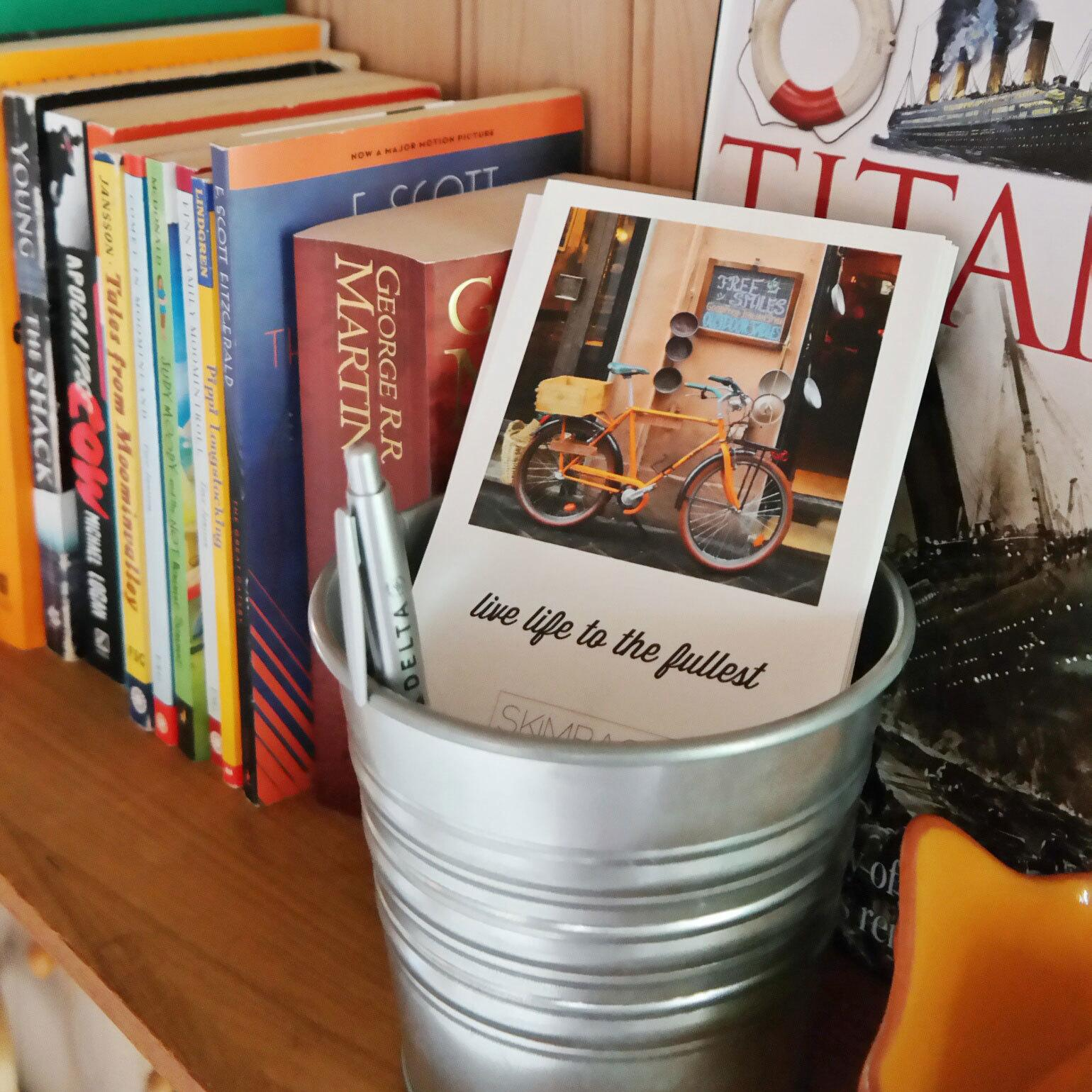 Postcards in the guest room | @skimbaco