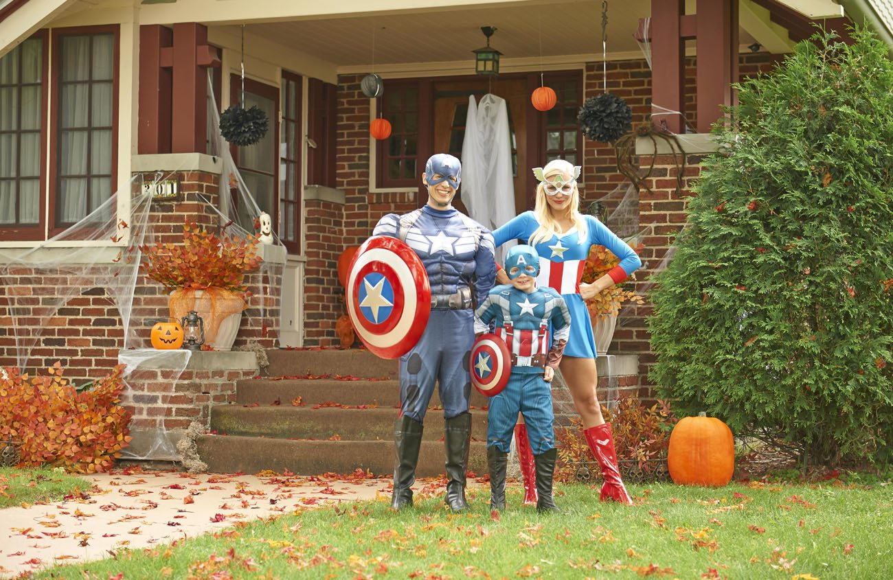Captain America costume for Halloween from BuyCostumes.com