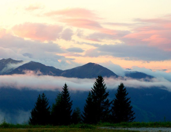 Cerkno hills in Slovenia