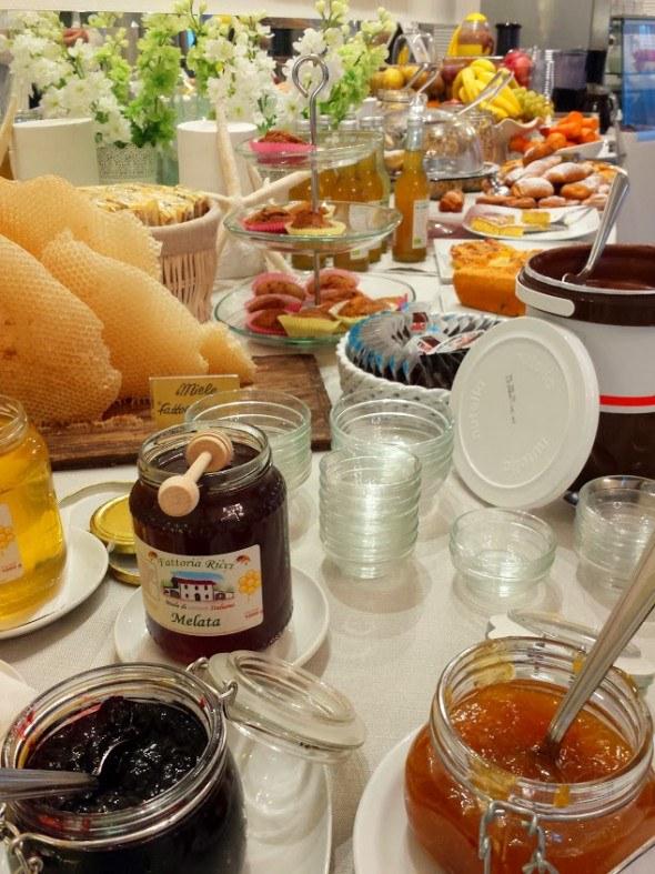 breakfast at Hotel Nettuno in Cesenatico, Italy