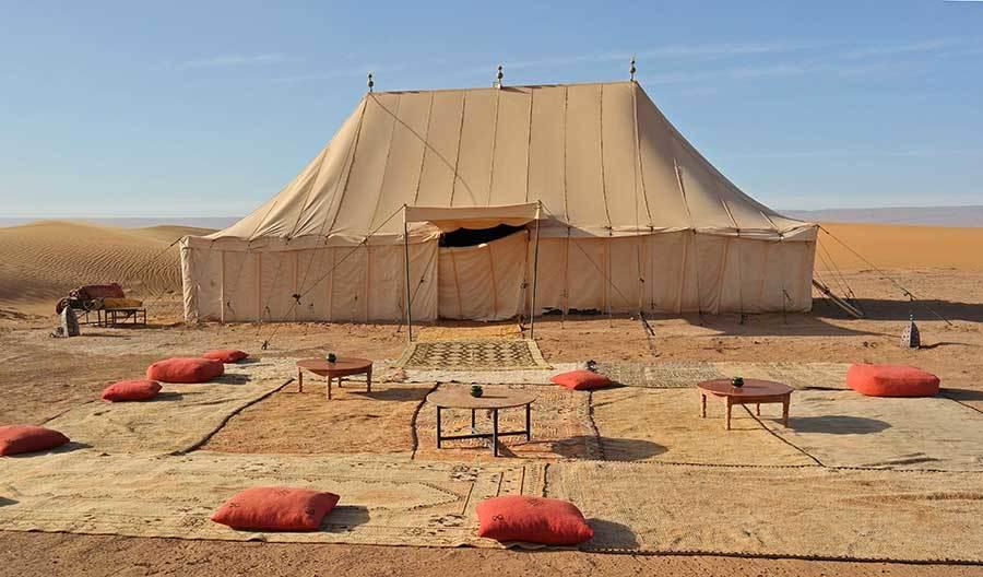 Erg Chegaga Luxury Desert Camp in Sahara desert, Morocco