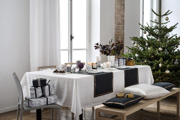 Scandinavian modern Christmas table setting from H&M