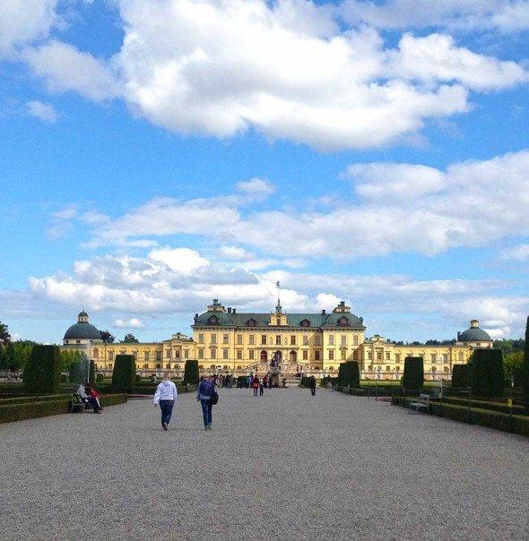 Drottningholm Palace just outside Stockholm, Sweden.