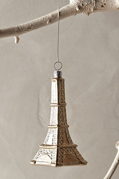 eiffel tower glass ornement - paris themed christmas gifts