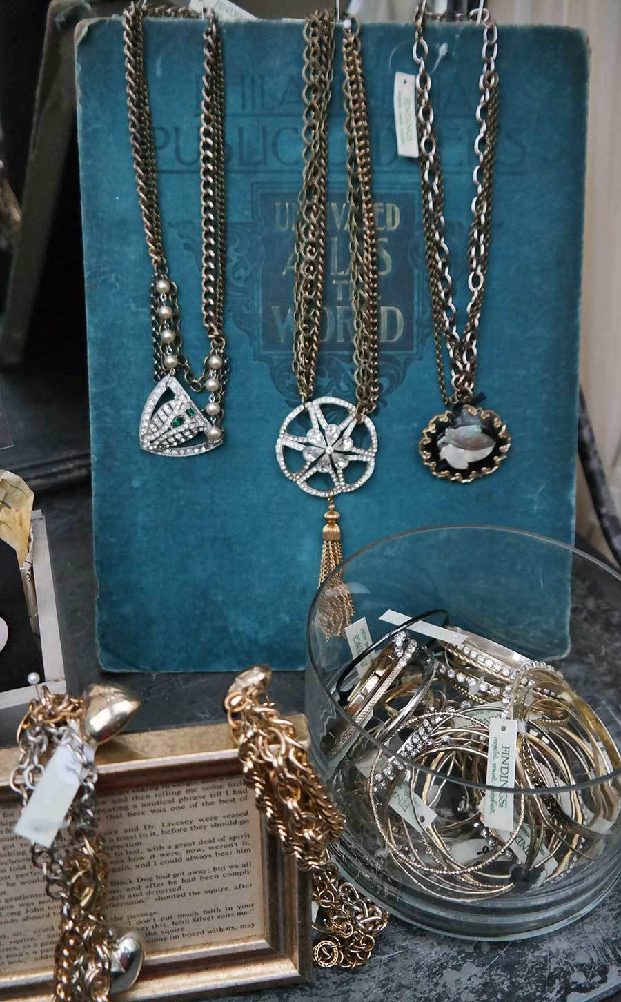 jewelry at the Bryant Park Christmas market