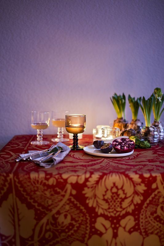 marimekkos colorful christmas table setting