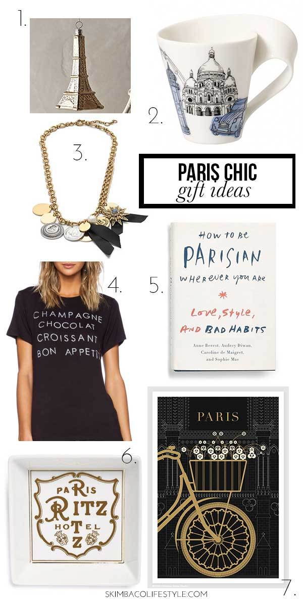 Paris themed Christmas gift ideas. Gift some Paris style!