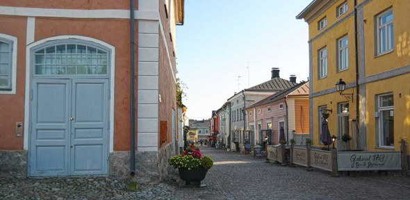 Porvoo old town in Finland