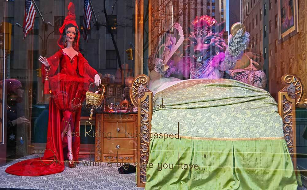 Red Riding Hood at the Saks Christmas window