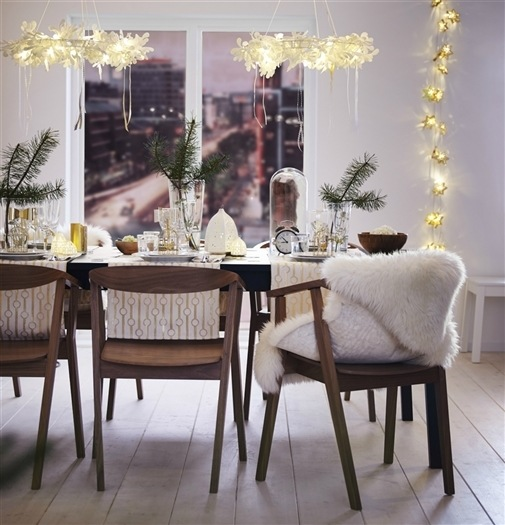 simple ikea table setting for the holidays