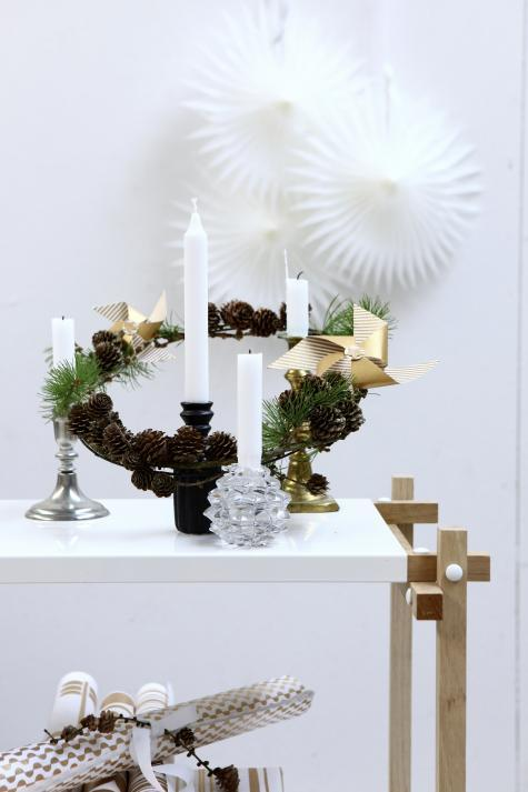 simple minimalistic christmas decor from Denmark