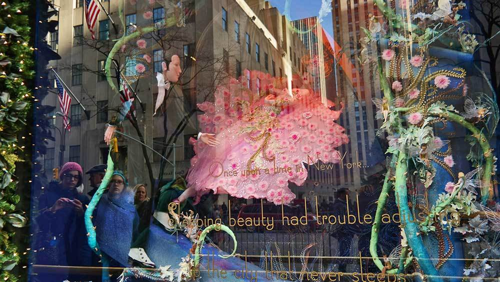 Sleeping Beauty at the Saks Christmas window
