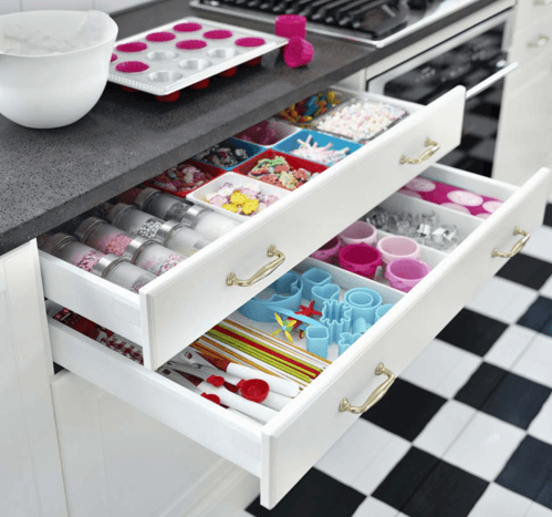 drawers inside drawers - brilliant kitchen storage