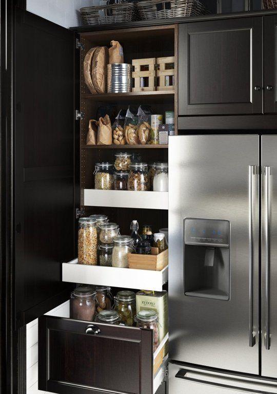 ikea sektion system kitchen organization drawers
