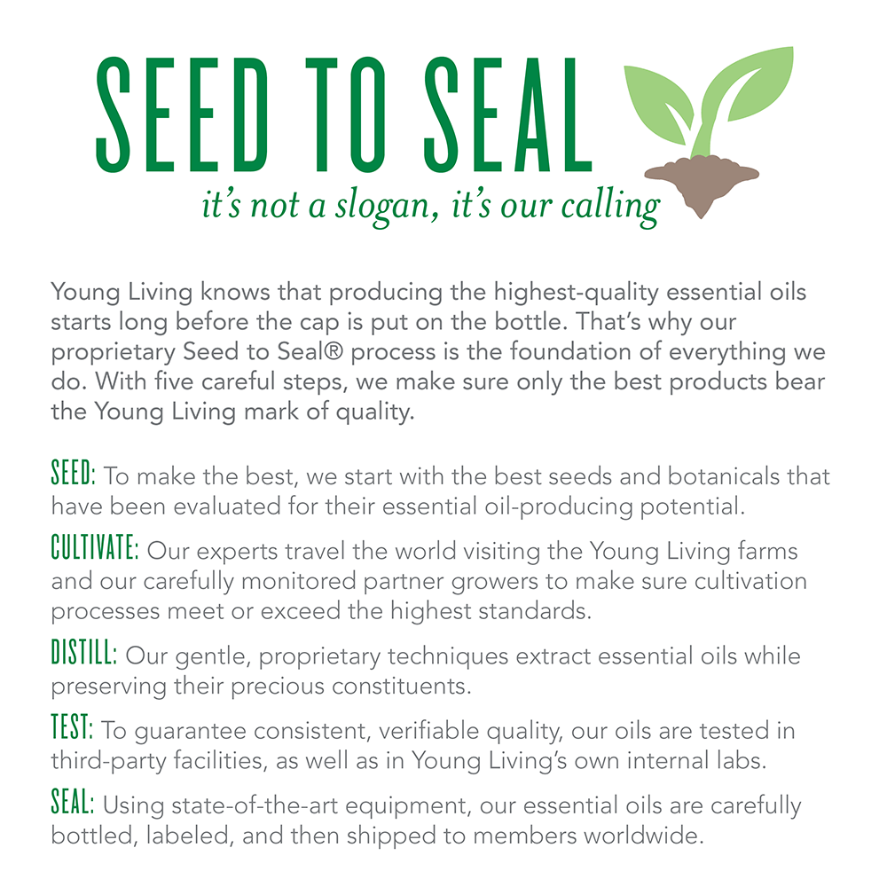 Seed to Seal promise from Young Living