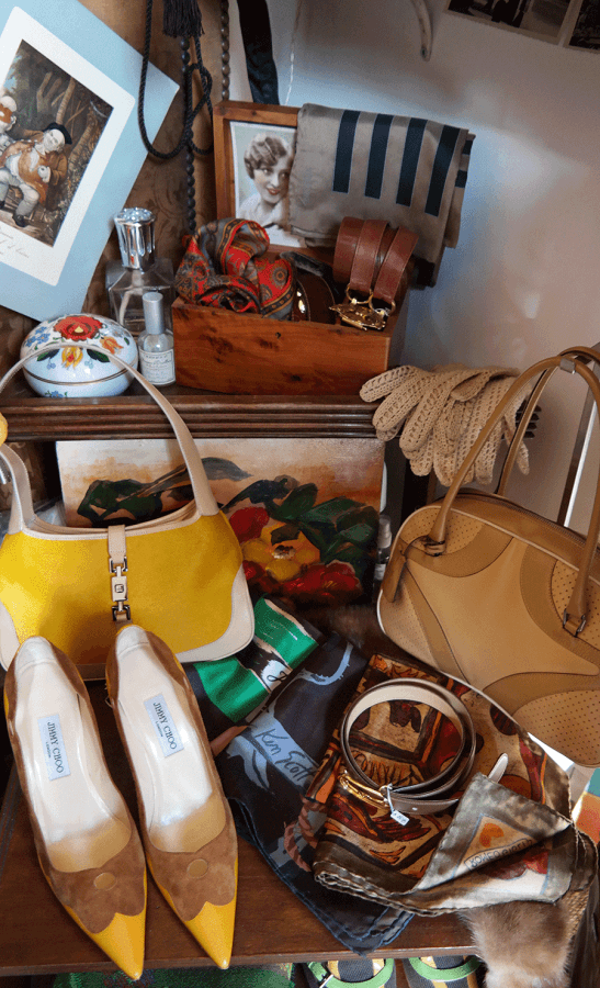 Vintage fashion at Paris flea market