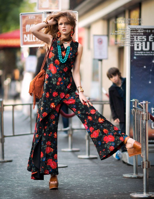 YYulia Serzhantova is all Hippied out and Glamorous in this Hippie Glam 70's editorial