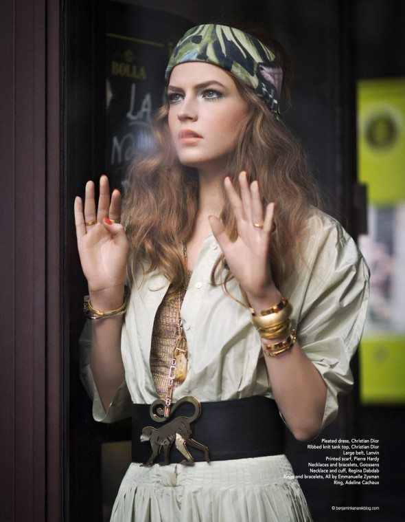 Yulia Serzhantova is all Hippied out and Glamorous in this Hippie Glam 70's editorial