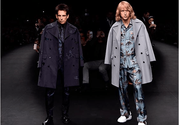 Ben Stiller and Owen Wilson on Zoolander 2 and Valentino's runway at Paris Fashion Week.