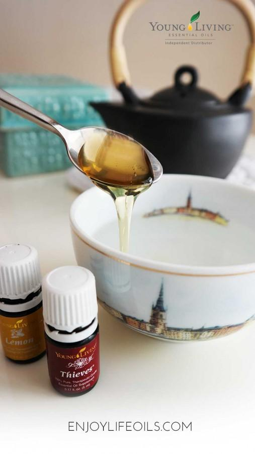 Immunity boosting Thieves tea. Learn more about essential oils at @skimbaco and @enjoylifeoils