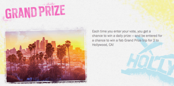Win a trip to Hollywood