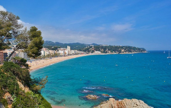 Lloret de Mar beach in Spain