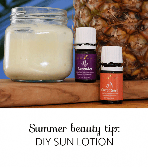 DIY SUNLOTION WITH CARROT SEED ESSENTIAL OIL