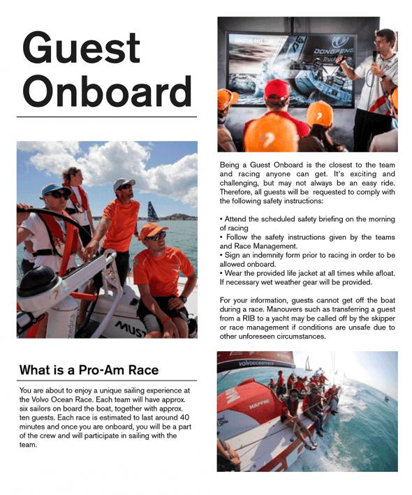Volvo Ocean Race Guest Onboard