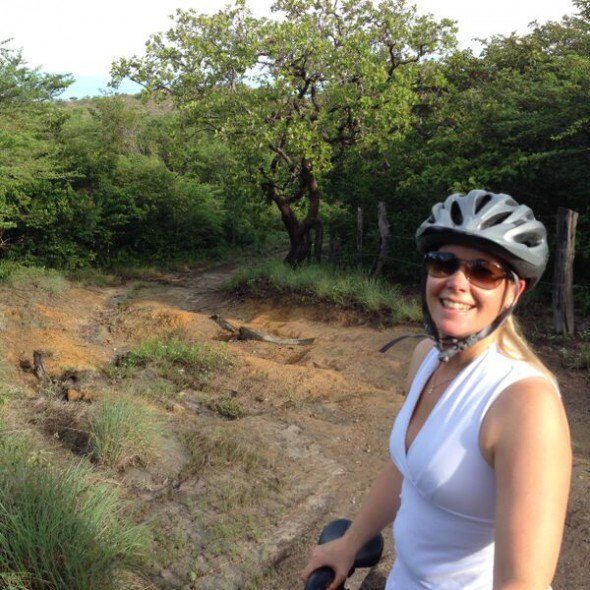 claudia biking in costa rica