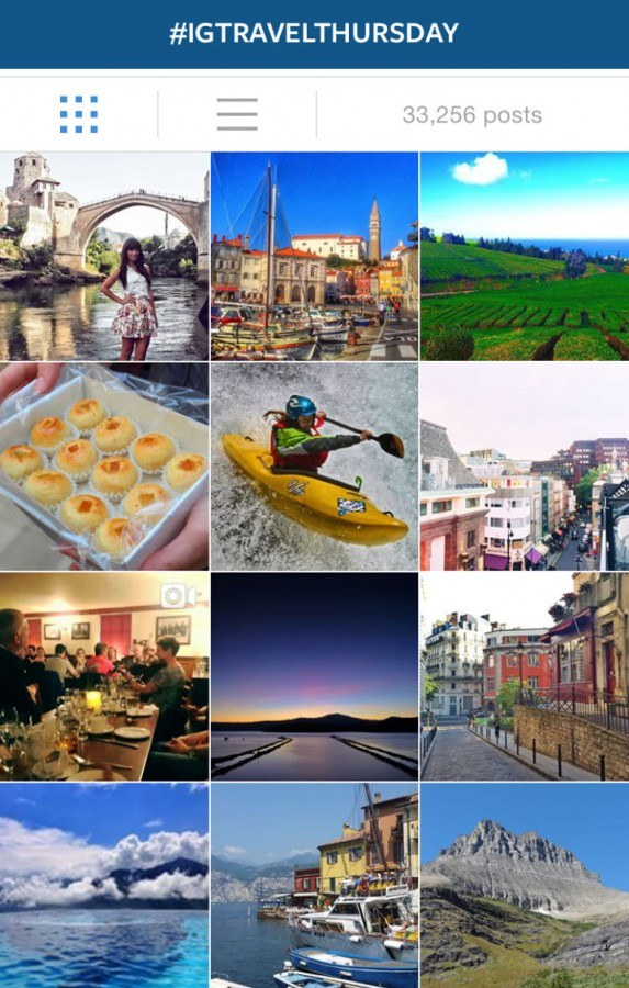 Use #IGtravelThursday hashtag on Instagram for your travel photos on Thursdays!