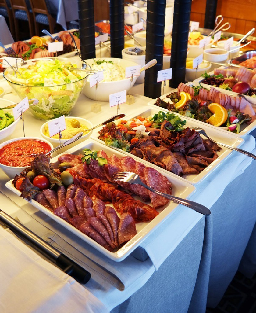 cold cut meats in Swedish Smörgåsbord | Travel feature by @skimbaco
