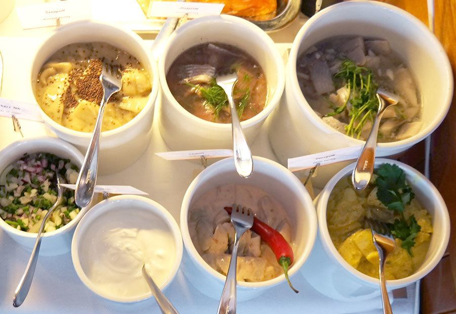 pickled herring selection in Swedish Smörgåsbord | Travel feature by @skimbaco