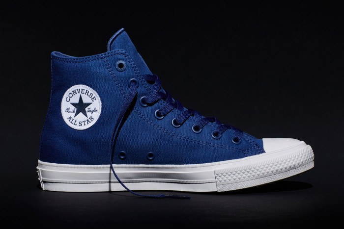 new Chuck II blue high-top.