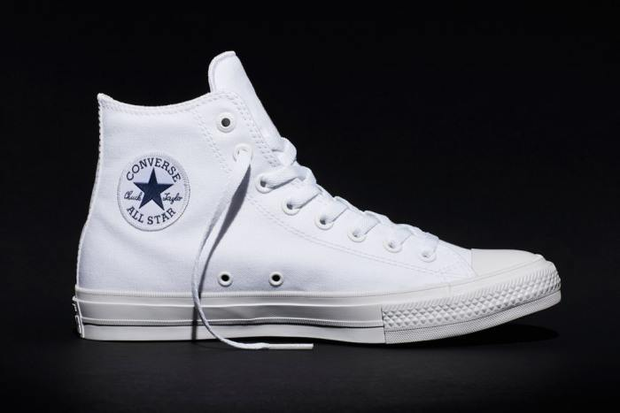New Chuck II white high-top.