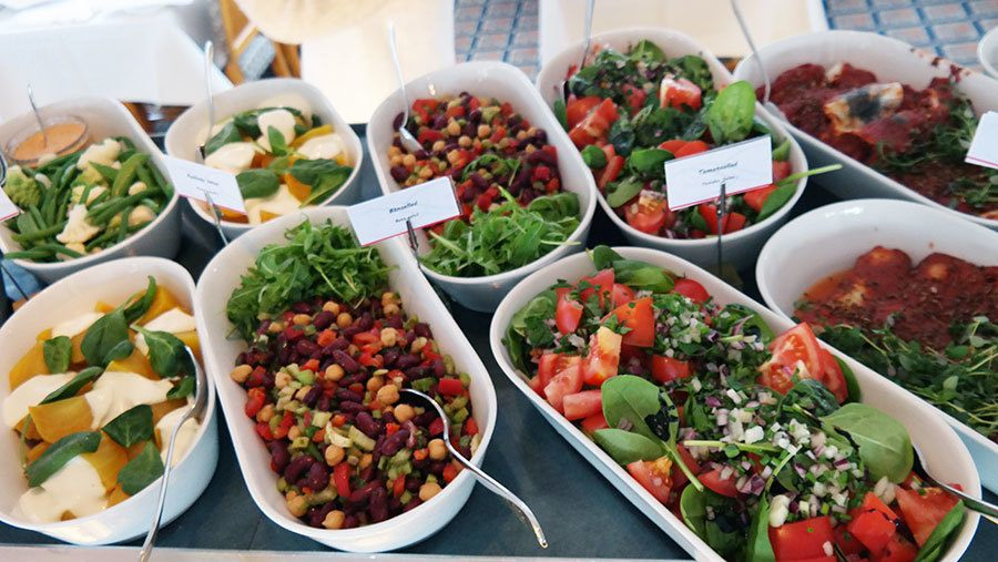 Swedish Salad selection on S/S Stockholm buffet cruise