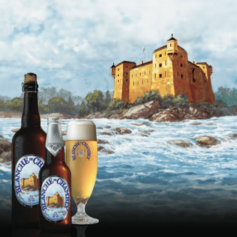 "In the spring of 1992, Unibroue introduced the first bottle-refermented white ale crafted in North America! Taking inspiration from Quebec history, Unibroue created Blanche de Chambly in honor of the volunteer militiamen who fought and died under Captain De Salaberry a French Canadian officer and nobleman in the British army to defend Lower Canada against invasion in 1812. Blanche de Chambly is the very first ale brewed by Unibroue and as Belgian tradition dictates for white ales, it is named after the city in which it is brewed. In 1996, the Chicago Beverage Testing institute declared Blanche de Chambly ""The World's Best White Ale."" Since then, it has gone on to win numerous other awards and distinctions."